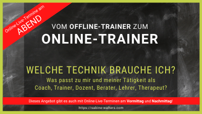 Digitale Chance: Vom Offline-Trainer zum Online-Trainer